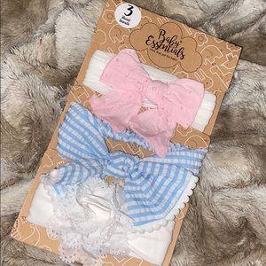 Baby essentials baby girl headbands pack of 3